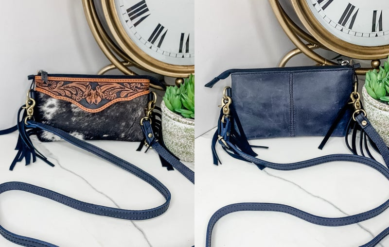 AMERICAN DARLING-SMALL CROSS BODY BAG WITH LEATHER WORK