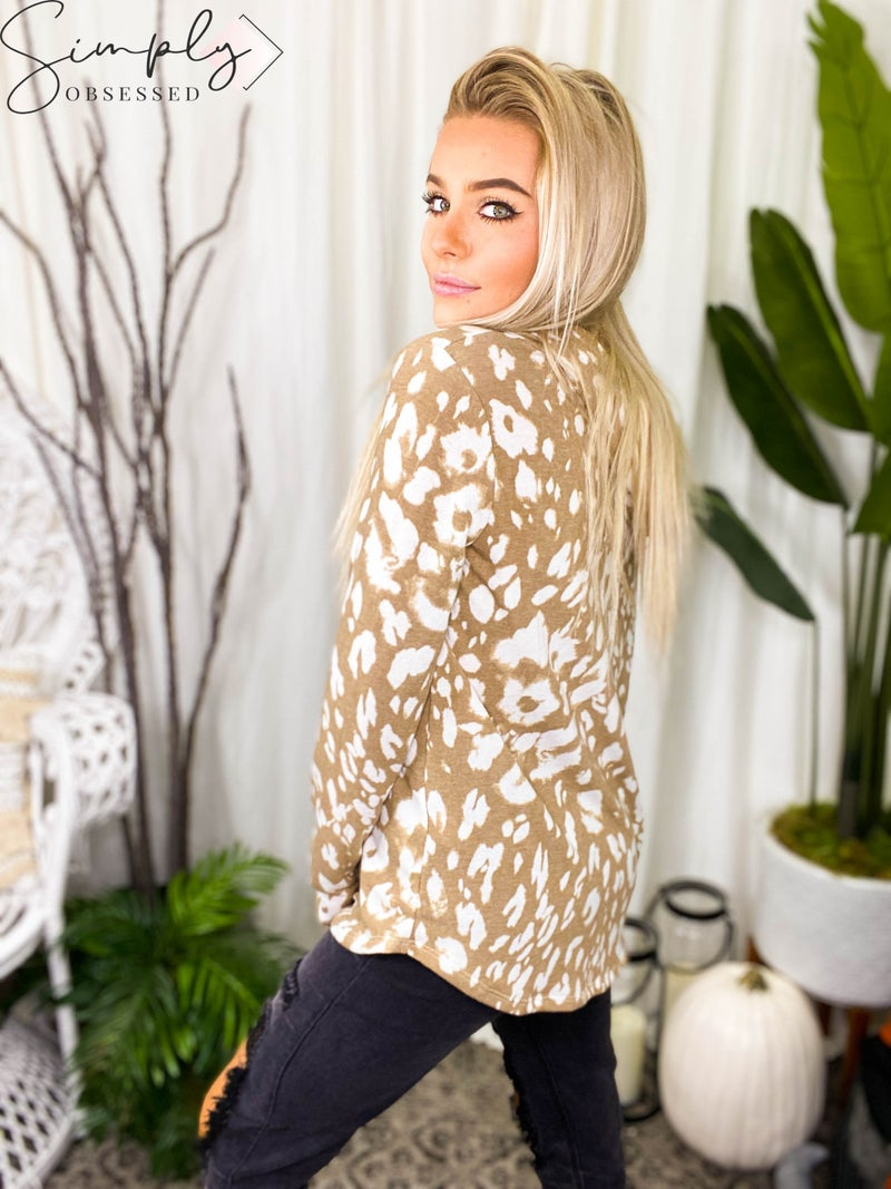 Sew In Love - Long Sleeve Leopard Hoodie Top (All Sizes)