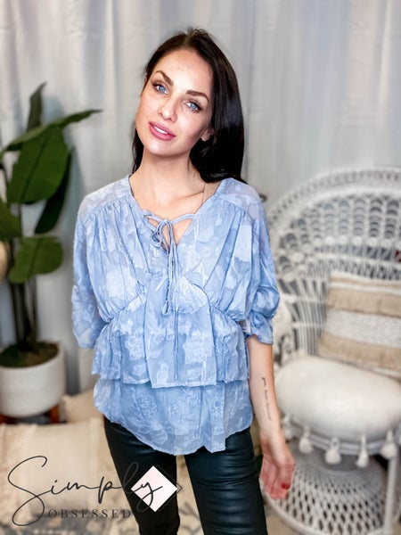 Listicle - Layered Baby doll Mid Sleeve Top