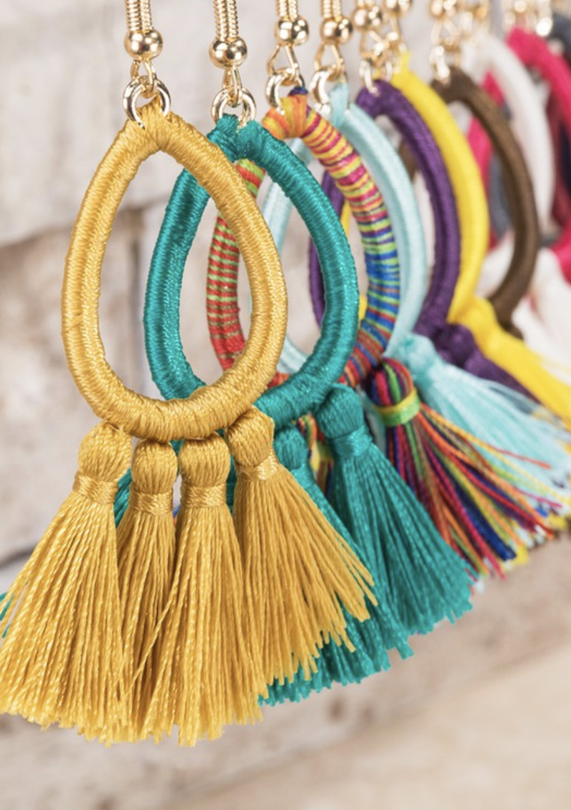 Colorful Summer Fringe Earrings