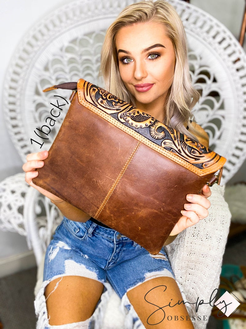 American Darling - Hand crafted leather work cross body bag
