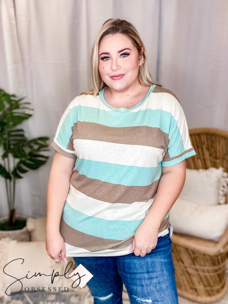 Orlando Sew In Love Pre-Sale - Blocked Stripe Short Sleeve Top(All Sizes)