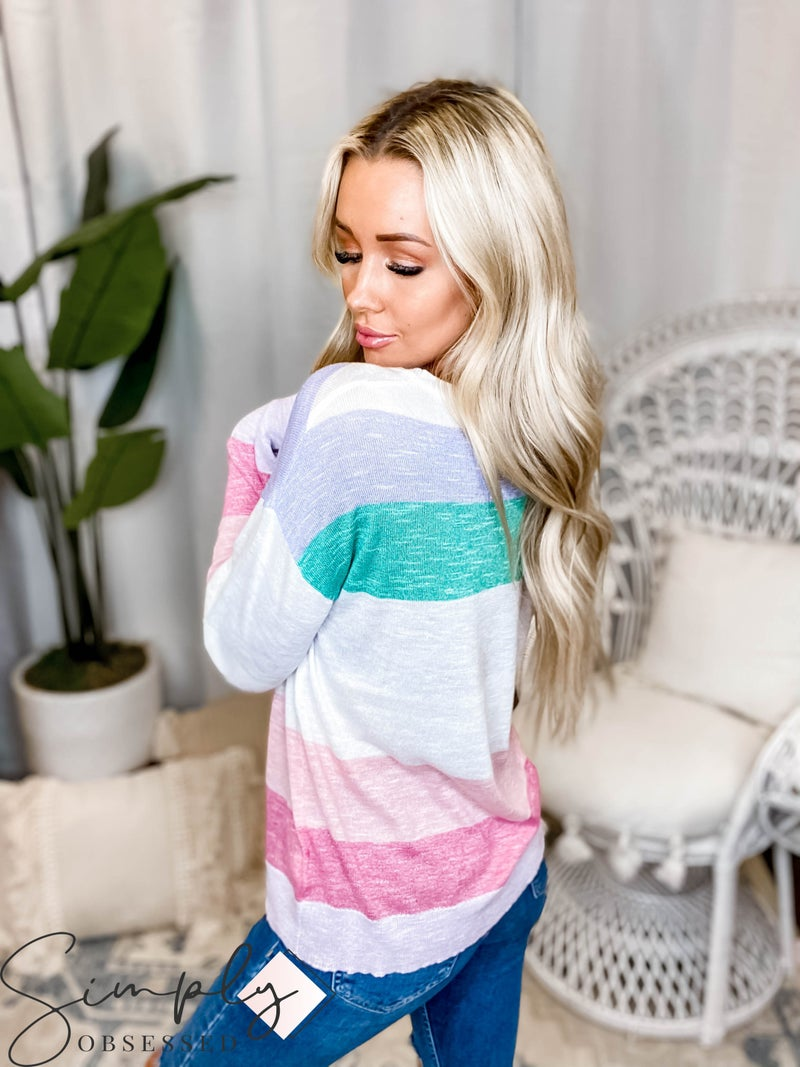 Hem & Thread - Multi Stripe Light Weight Sweater