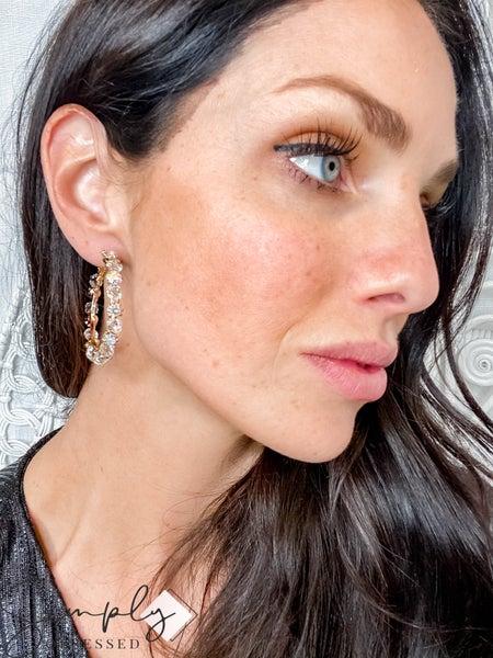 TJ - Crystal Hoop Earrings