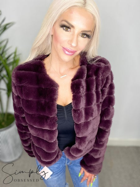 EE:Some - Faux fur puffer coat