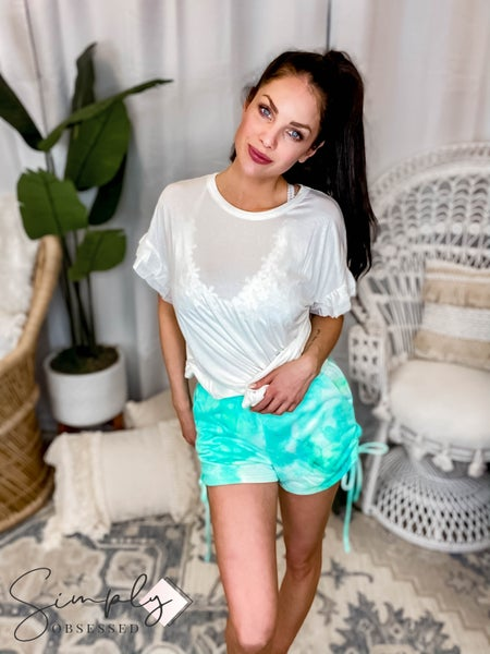 EE:Some - Ruched Tie Dye Shorts