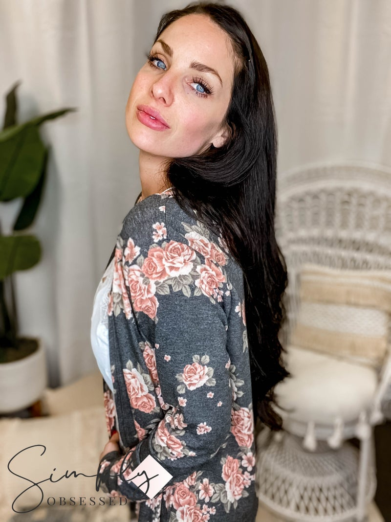 Sew In Love - Long Sleeve Floral Cardigan