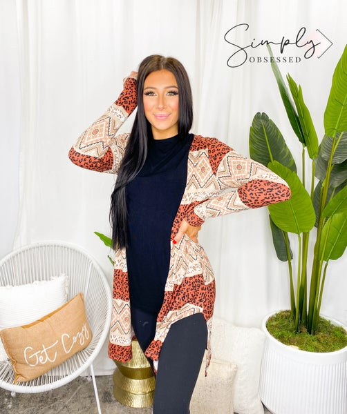 Sew In Love - Long Sleeve Animal Print Cardigan