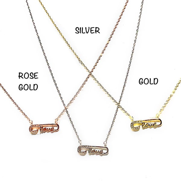 Clothes Pin Love Necklace