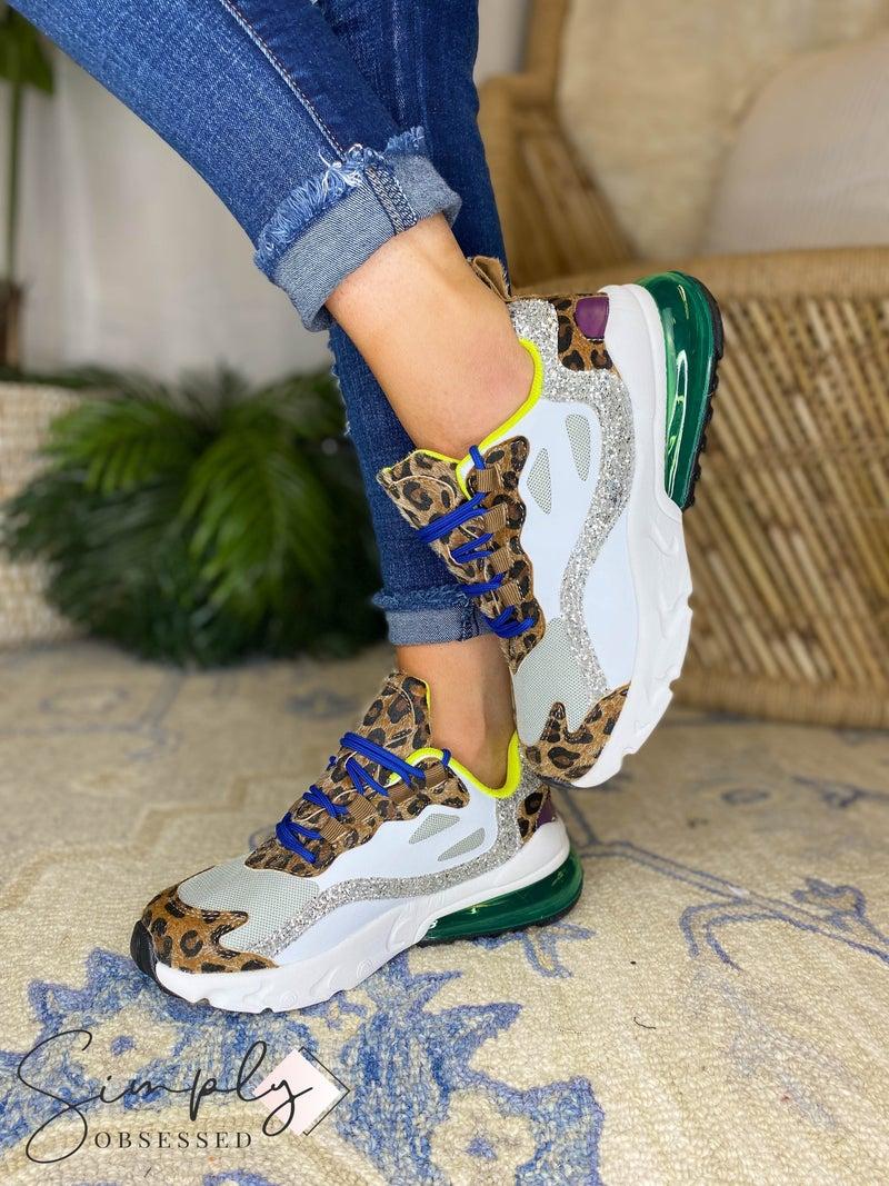 Cape Robbin  -  Multi Glittery Lace Up Sneakers