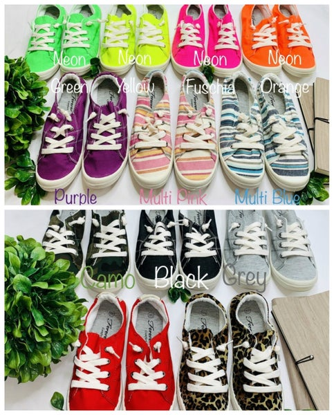 Comfortable canvas sneakers