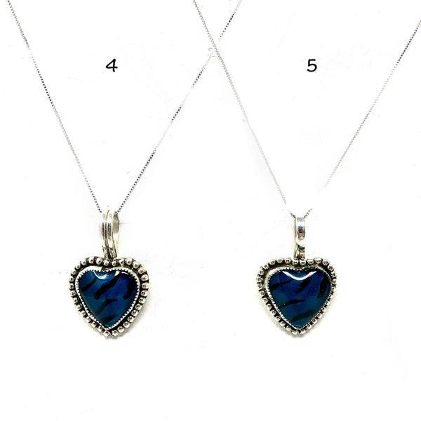 M&S Hand-Painted Heart Necklace