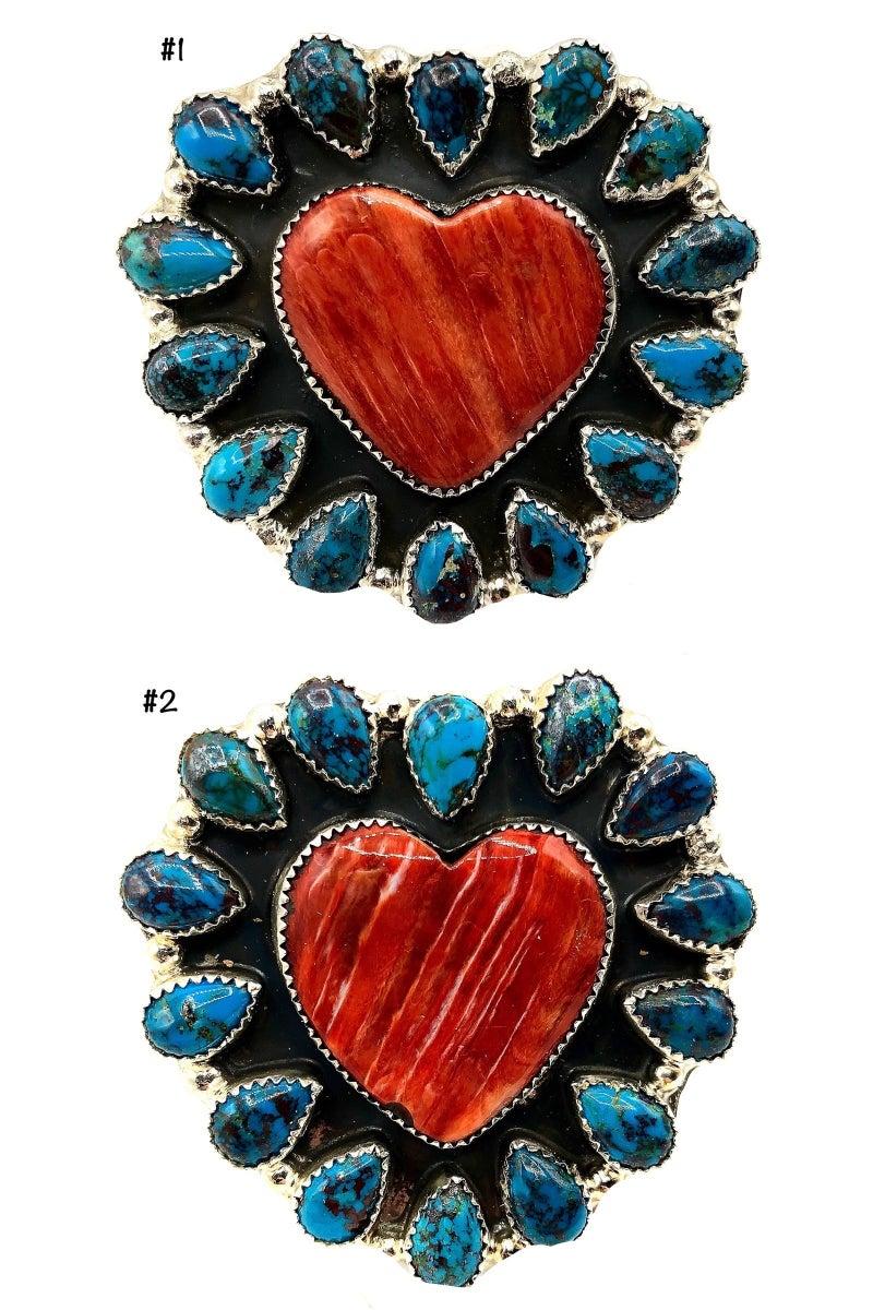 M&S - Spiny Orange + Turquoise Ring