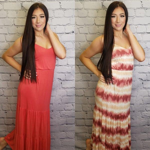 Lush - Cami tiered maxi dress