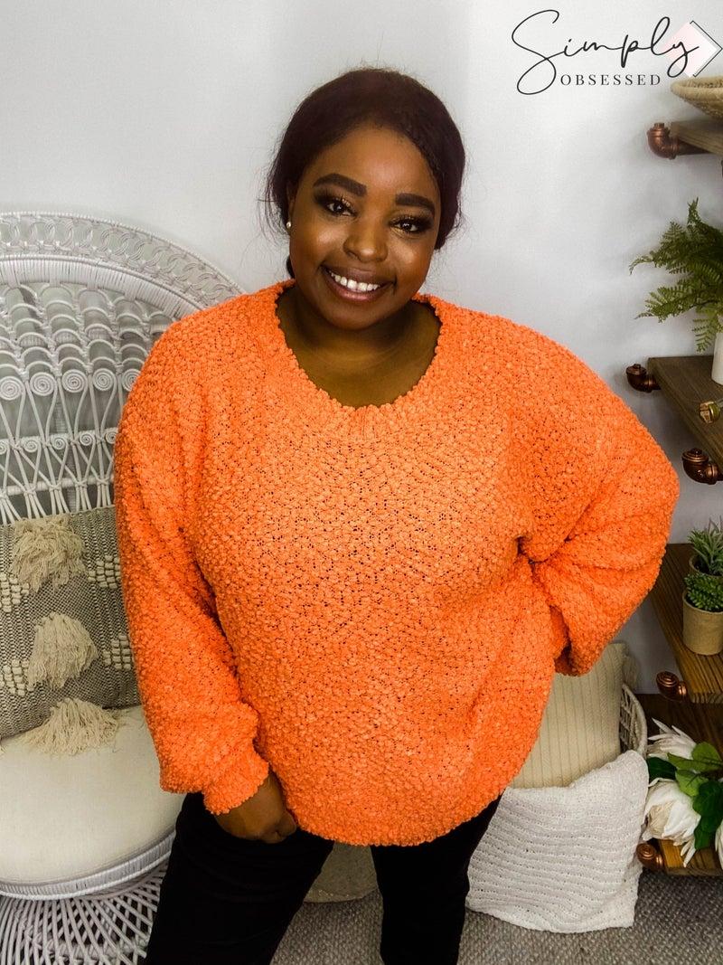 Popcorn Balloon Sleeve Pullover Sweater (All Sizes)