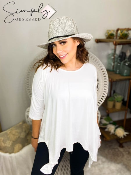 White Birch - Long sleeve loose fit knit top