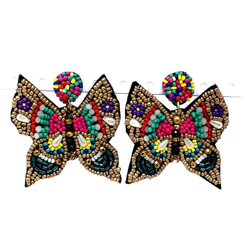 Butterfly Bead Earrings
