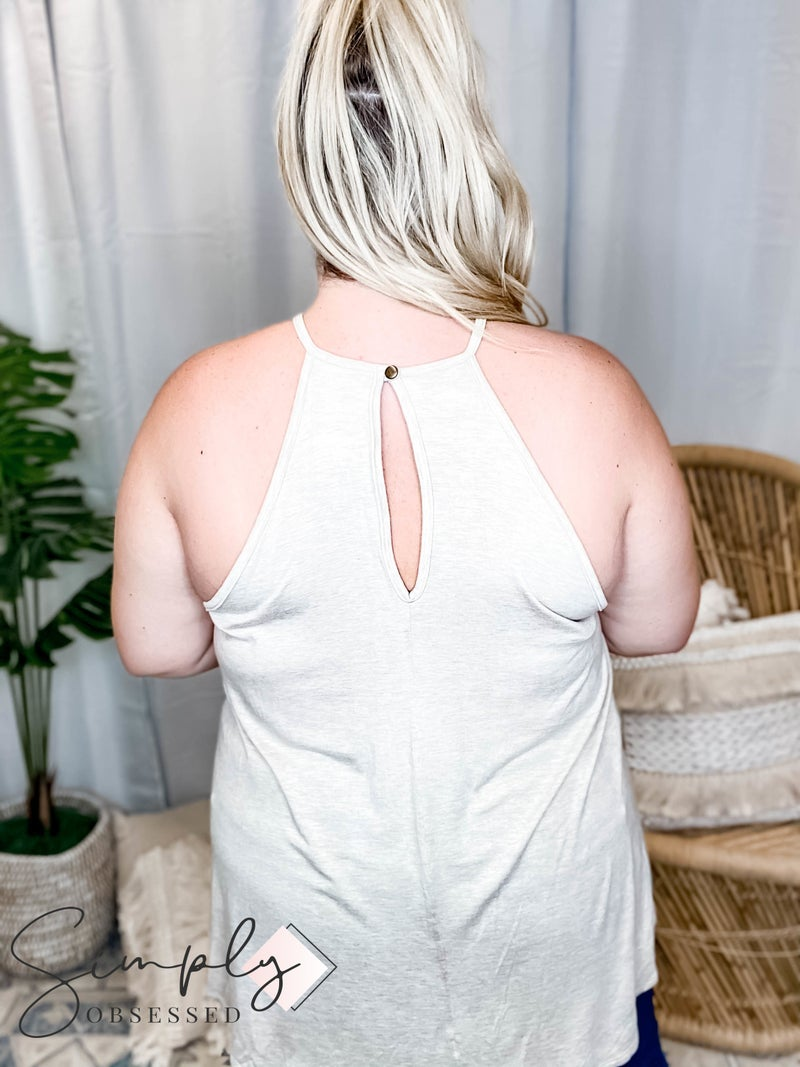 GeeGee LA First Dibs - Crochet Lace Detail Tanktop w. Keyhole(All Sizes)