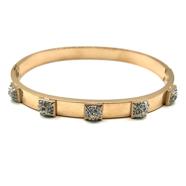Rose Gold CZ Square Bracelet