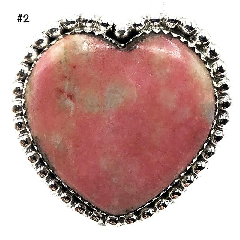 M & S - Thulite Heart Ring