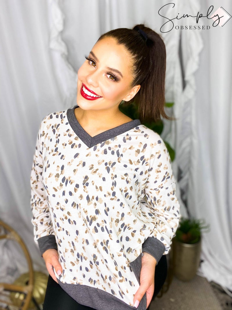 Sew In Love - Long Sleeve V Neck Top