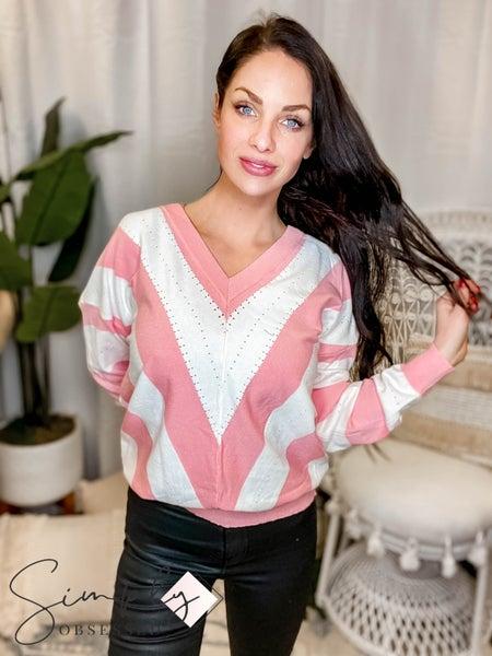 P.S. Kate - V pattern dolman sleeve sweater