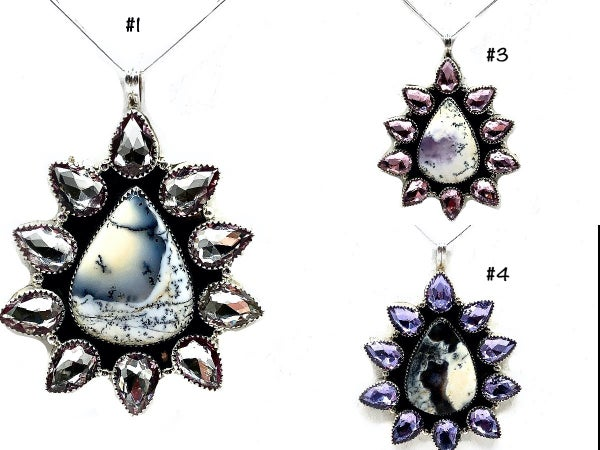 M&S - Dendrite + Diamante Cluster Necklace