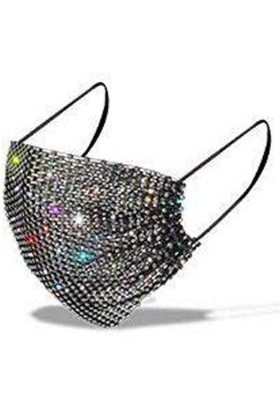 Hana - Rhinestone Luxury Diamond Bling Party Fashion Mask