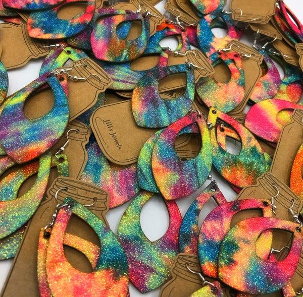 JJ - Surprise Color Tie-Dye Earrings