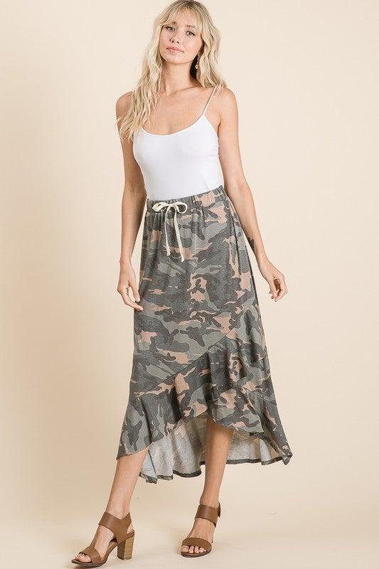 Lovely Melody - Ruffled elastic waist skirt
