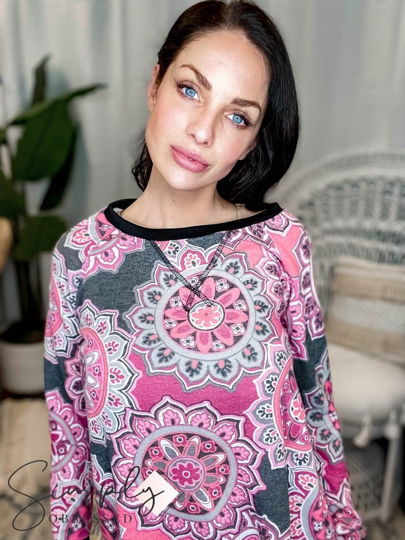 Sew In Love - Sweater W/ Rib Contrast Detail