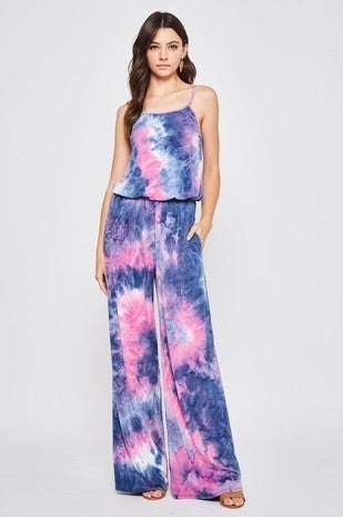 Beeson Rive - Sleeveless tie dye jumpsuit