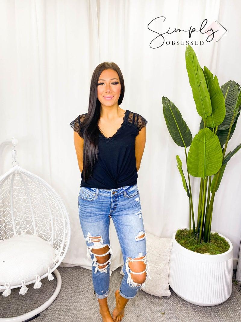 Eunina - Low rise girlfriend jeans