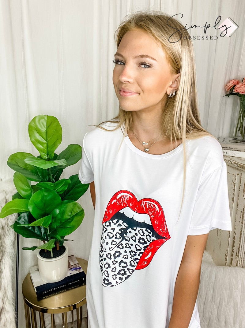 MAZIK-Short Sleeve Front Print Plain Casual Dress
