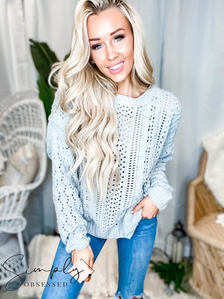 Easel - Cable knit pull over sweater