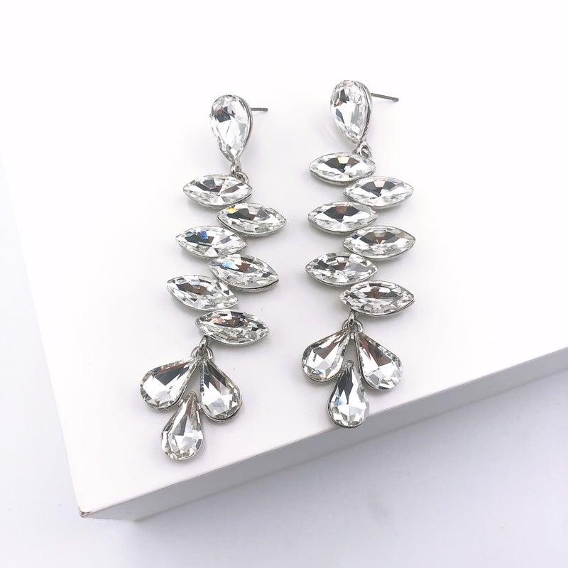 Treasure Jewels - Aria Drop Silver Earrings