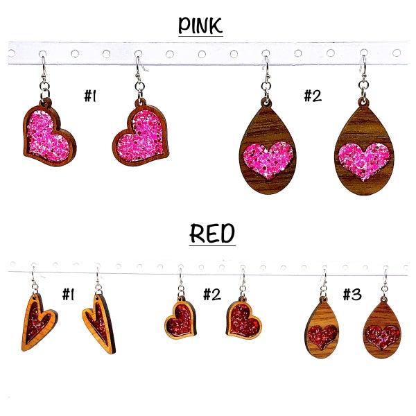 FAIRE -Wooden Heart Earrings