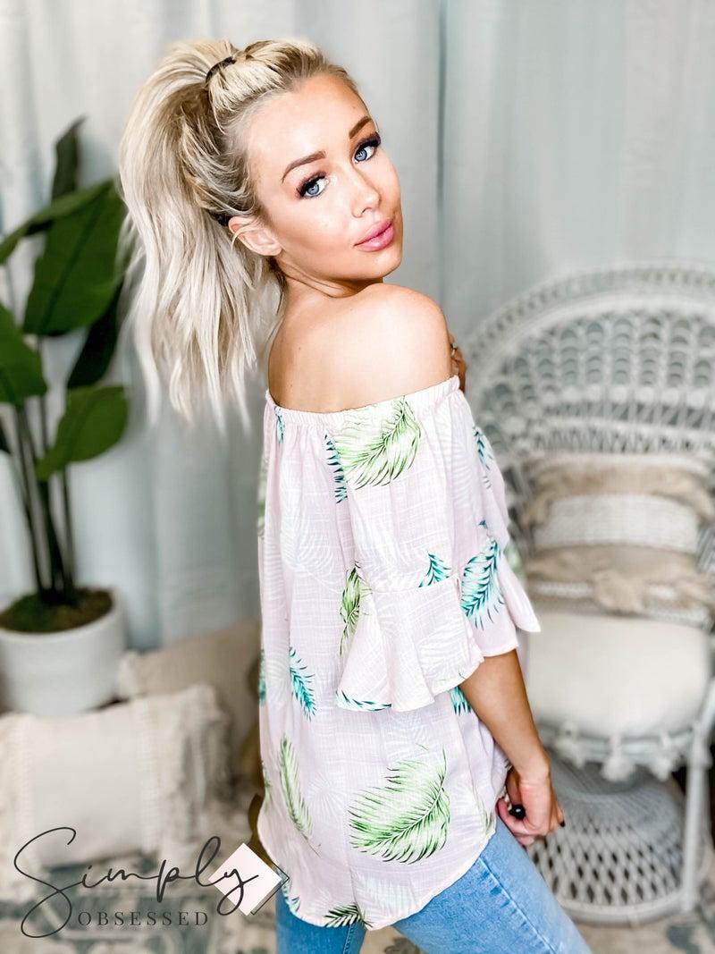 CY Fashion - Tropical Off Shoulder Top