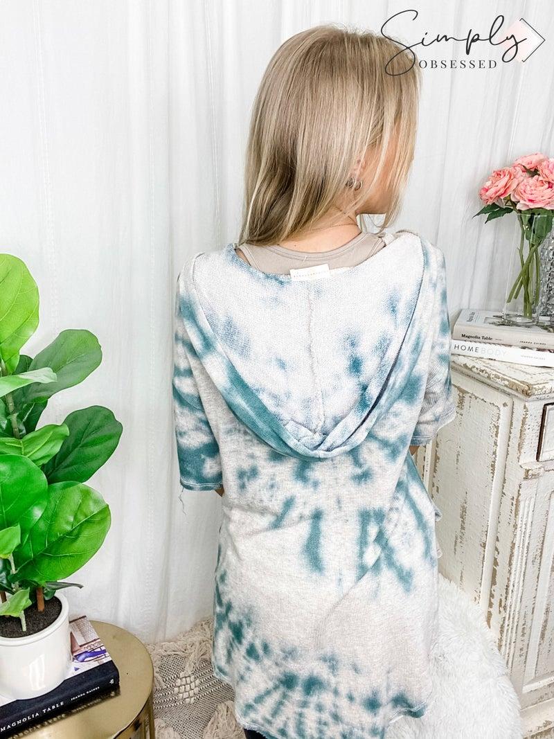 Chrysanthemum - U neck ss hoodie french terry top