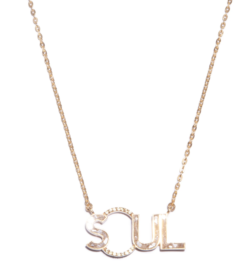 Gulati - Real Raw Uncut Diamonds Soul Pendant Necklace