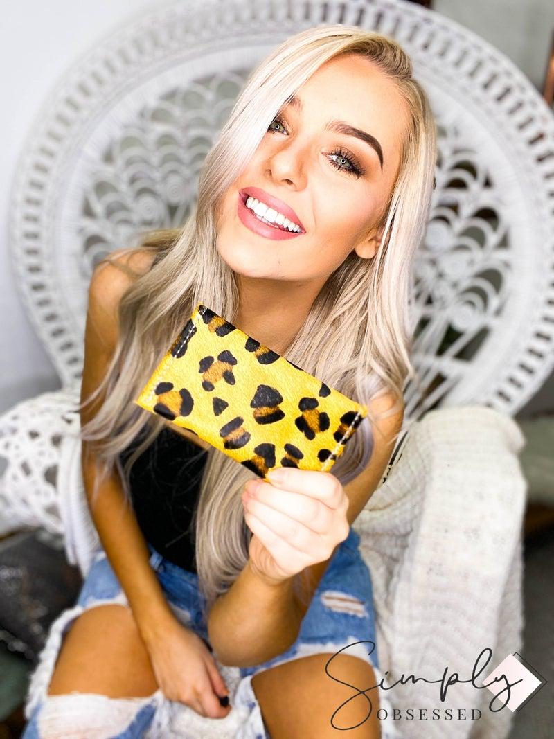 American Darling - Leopard print card holder
