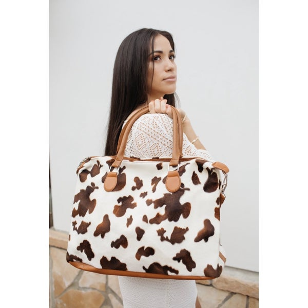 Julia Rose - Animal print oversized tote weekender bag