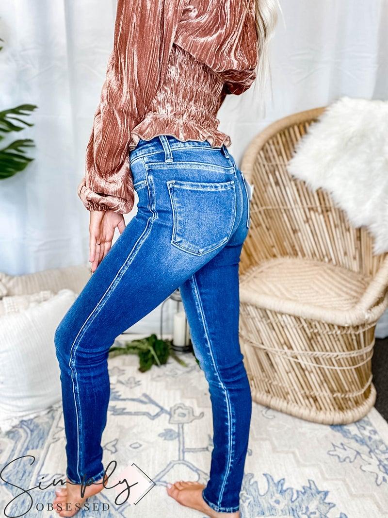 Vervet - Mid rise ankle skinny jeans