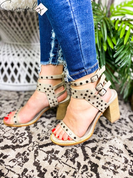 Ccocci - Stud and Strap Open Toed Sandal Heels