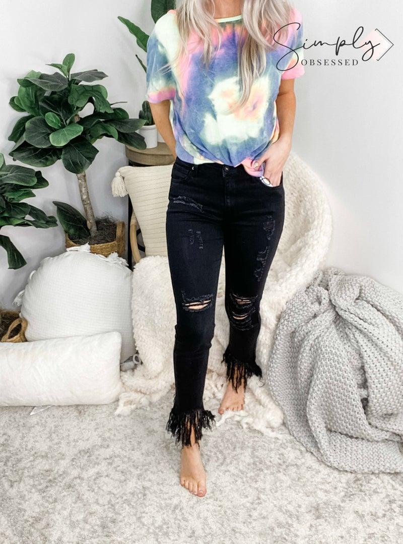 C'est Toi - Mid Rise Distressed Skinny Jeans