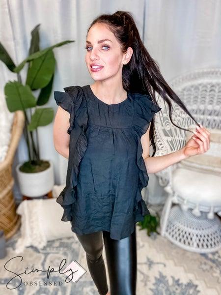 Doe & Rae - All over ruffled blouse