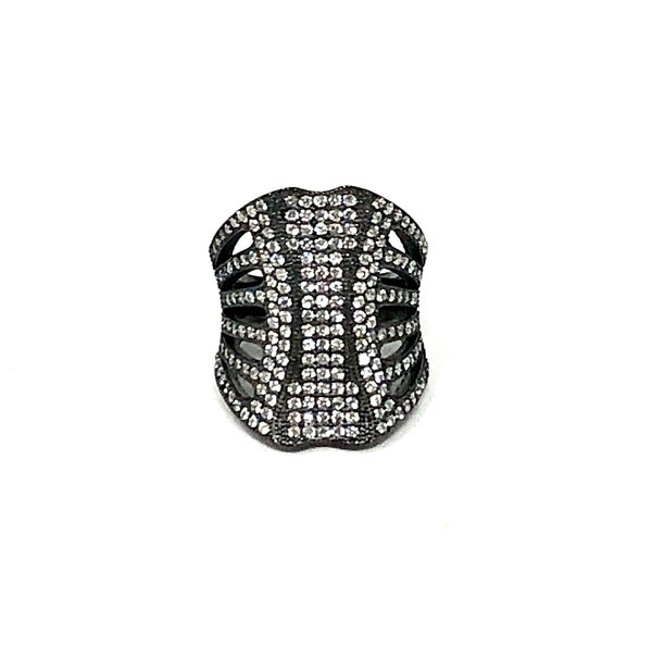 Gunmetal Black CZ Ring