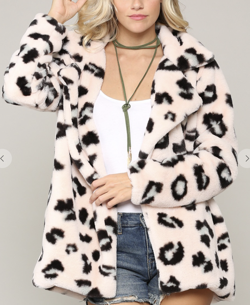 Kye Mi - Shaggy faux shearling printed coat