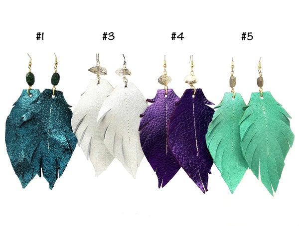 Emerge Large Feather Earrings
