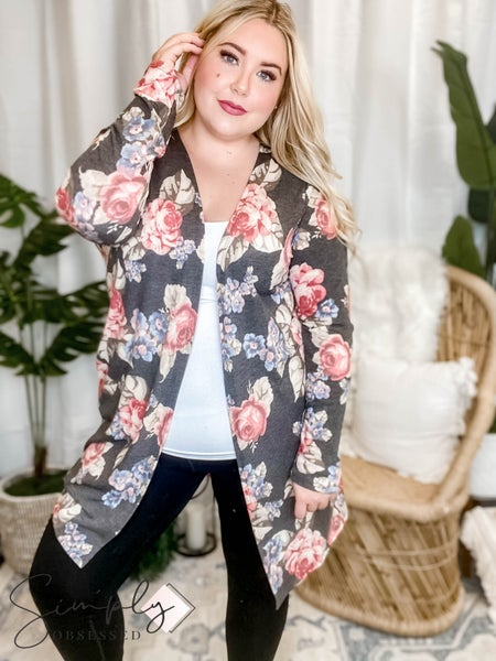 Sew In Love - Long Sleeve Floral Cardigan Top